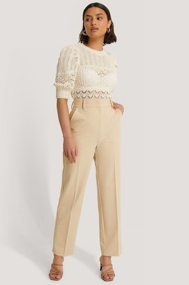 NA-KD Cropped High Rise Suit Pants