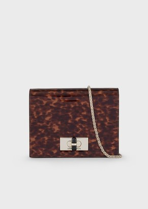 Giorgio Armani A Mini Bag In Leather With A Tortoiseshell Print