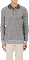 Piattelli MEN'S STRIPED SILK-CASHMERE POLO SWEATER