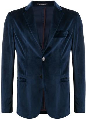Emporio Armani Long Sleeve Velvet Blazer