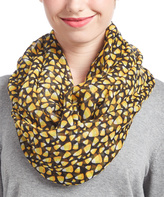 David & Young Black Candy Corn Infinity Scarf