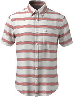 Original Penguin Horizontal Stripe Short Sleeve Heritage Fit Shirt