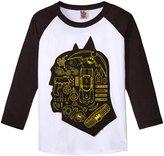 Junk Food Clothing Batman Collage (Toddler/Kid) - White/Jet Black - XS