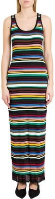 M Missoni Stripped Ribbed Long Dress