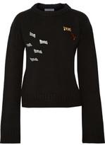J.W.Anderson Brooch-Embellished Merino Wool Sweater