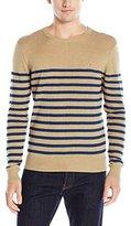 Original Penguin Men's Pima Crew Neck Indigo Stripe Sweater