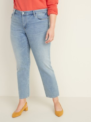 Old Navy Mid-Rise Power Slim Straight Plus-Size Jeans