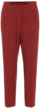 Bottega Veneta Cropped mid-rise straight pants