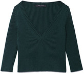 Marc Jacobs Preorder Ribbed Merino Wool V-Neck Sweater