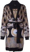 Etro printed cardi-coat - women - Silk/Polyamide/Mohair/Wool - 44