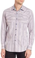 Robert Graham Linear Woven Button-Down Shirt