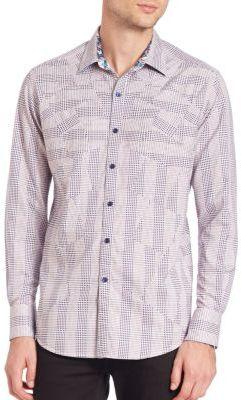 Robert Graham Linear Woven Button-Down Shirt