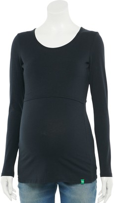 Modern Eternity Maternity Crewneck Long Sleeve Nursing Top