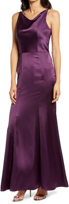 Chi Chi London Molly Mae Satin Gown