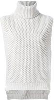 Eleventy honeycomb knit top