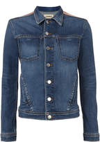 L'Agence Celine Foil Denim Jacket