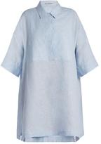 Acne Studios Sena Li point-collar linen shirtdress