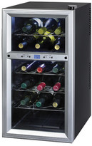 Kalorik 18 Bottle Dual Zone Freestanding Wine Refrigerator