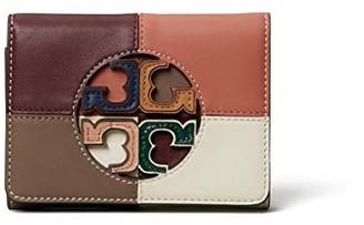 Tory Burch Miller Color Block Medium Wallet (Port/Tramonto) Handbags