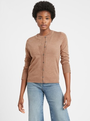 Banana Republic Petite Merino Cardigan Sweater in Responsible Wool
