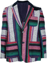 Sacai mexican stripe blazer - men - Cotton/Rayon - 1