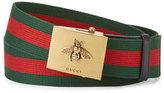 Gucci Canvas Web Belt w/ Bee Buckle