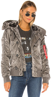 Alpha Industries N-2B Battlewash Parka With Faux Fur