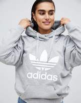 adidas Trefoil Pullover Over In Grey