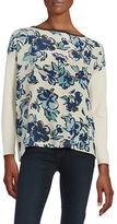 Max Mara Contrast Floral Sweater