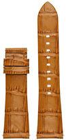 Michael Kors Access Bradshaw Croc-Embossed Leather Strap/Luggage