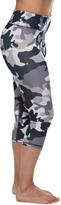 Gray Camouflage Capri Leggings