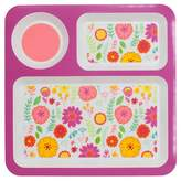 Circo Divided Square Dinner Tray Floral Pink