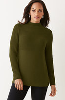 J. Jill Mixed-Stitch Mock-Neck Sweater