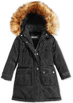 Steve Madden Hooded Parka with Faux-Fur Trim, Little Girls (4-6X)