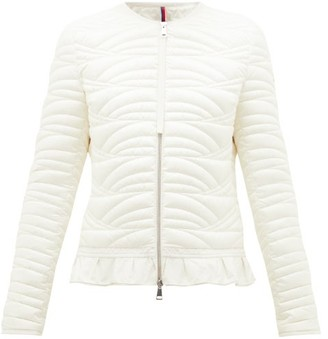Moncler Ambre Ruffled Quilted-down Jacket - Ivory