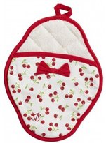 Jessie Steele Pot Mitt, Retro Cherries