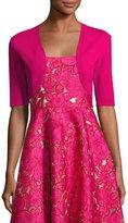 Lela Rose Classic Knit Shrug, Pink