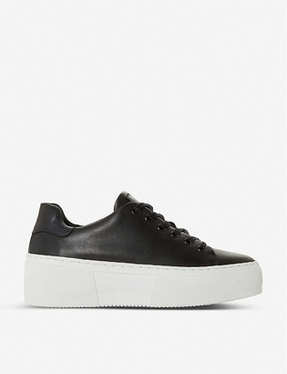 Bertie Electaa leather platform trainers