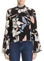 Yumi Kim High Society Bell Sleeve Floral Silk Blouse