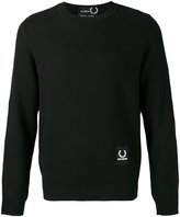 Fred Perry logo patch sweatshirt - men - Acrylic/Wool - 38