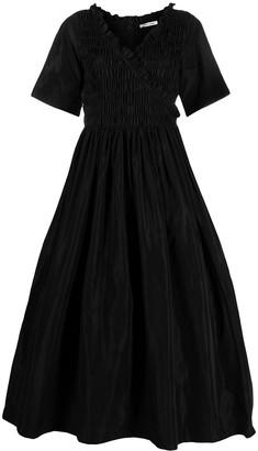 Sandy Liang smocked-waist A-line dress