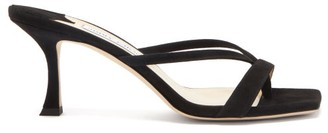 Jimmy Choo Maelie 70 Leather Sandals - Black