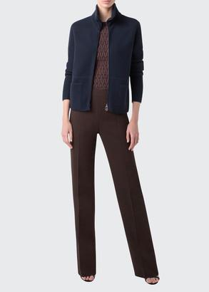 Akris Zip-Front Cashmere Knit Cardigan