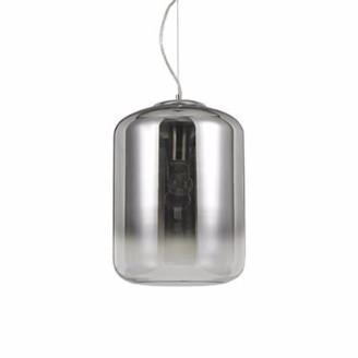 IdealLux Ideal Lux - Smokey Glass Ken Pendant Light - Glass/Grey