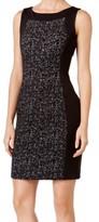 Calvin Klein Black Women's Size 8 Textured Knit Sheath Dress