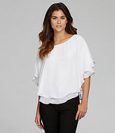Gianni Bini Fan Fav Winnie Layered Georgette Poncho Blouse