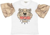 Kenzo EMBROIDERED COTTON JERSEY T-SHIRT