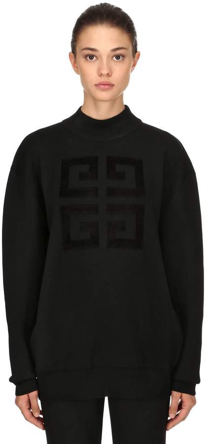 Givenchy 4g Intarsia Wool Blend Knit Sweater
