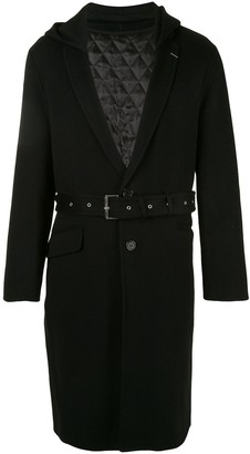 SONGZIO Slim Notched Hooded Coat