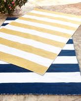 Horchow Rugby Stripe Indoor/Outdoor Rug, 8' Square